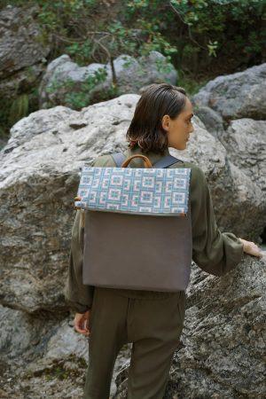 Labyrinth (mocha pink) backpack