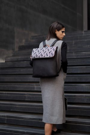 pomegranate ( grey black) backpack 6