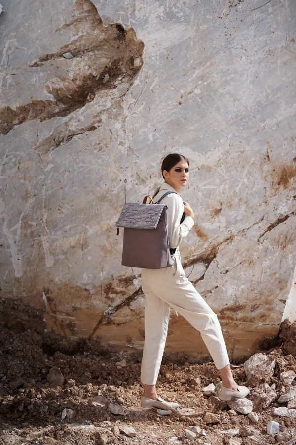 labyrinth (mocha grey) backpack 1