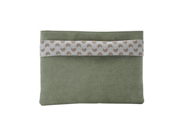 walnut (green) clutch 3