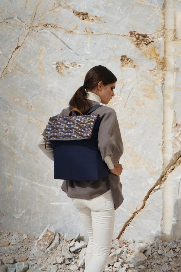 labyrinth (blue yellow) backpack 1