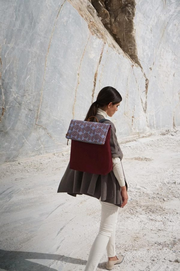 labyrinth (dark red purple) backpack 1