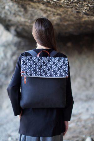 pomegranate (black grey) backpack 2