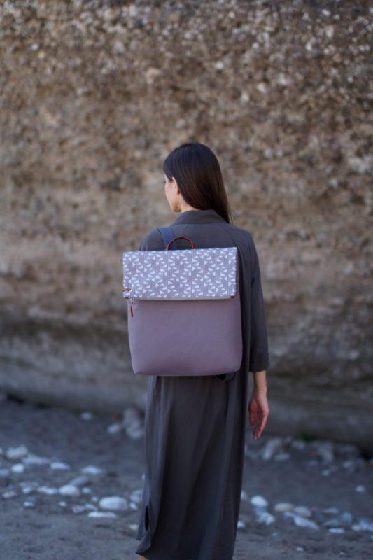 pomegranate (mocha grey) backpack 1