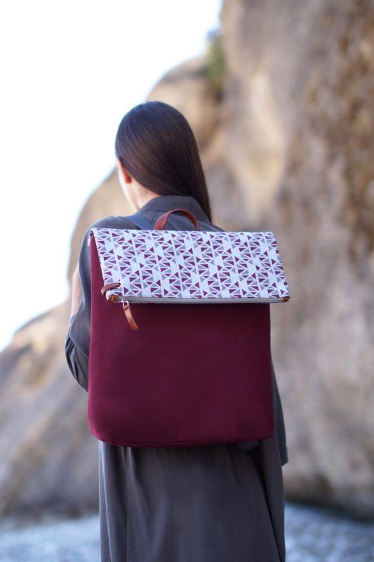 pomegranate (dark red grey) backpack 1