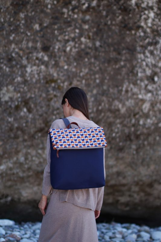 walnut (dark blue orange) backpack 1