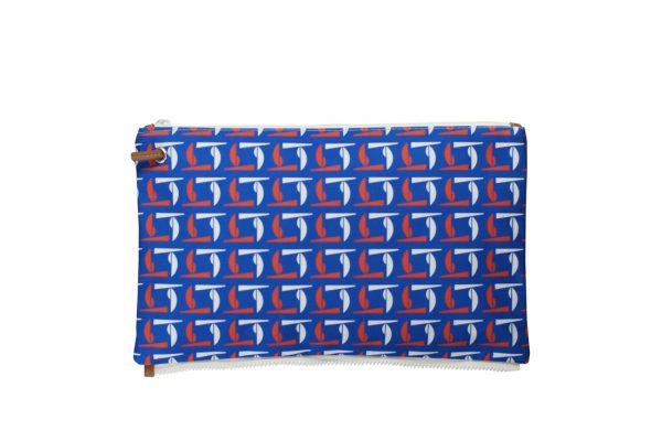 calypso red white blue top clutch