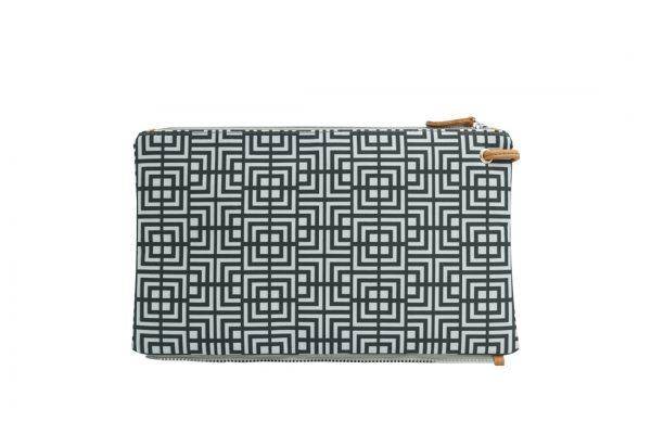labyrinth (black grey) top clutch 2
