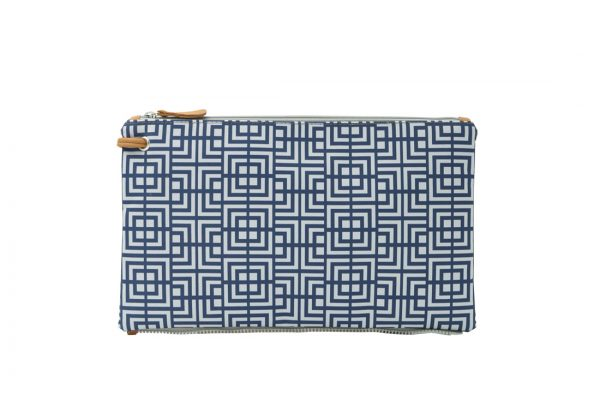 labyrinth (blue grey) top clutch 1