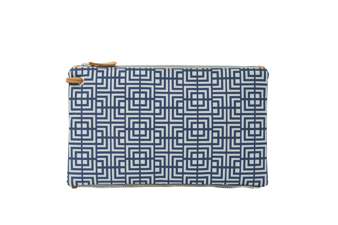 labyrinth (blue grey) top clutch 1