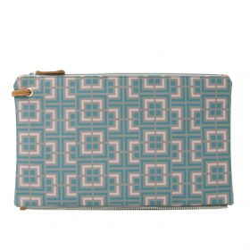 Labyrinth (mocha pink) top clutch