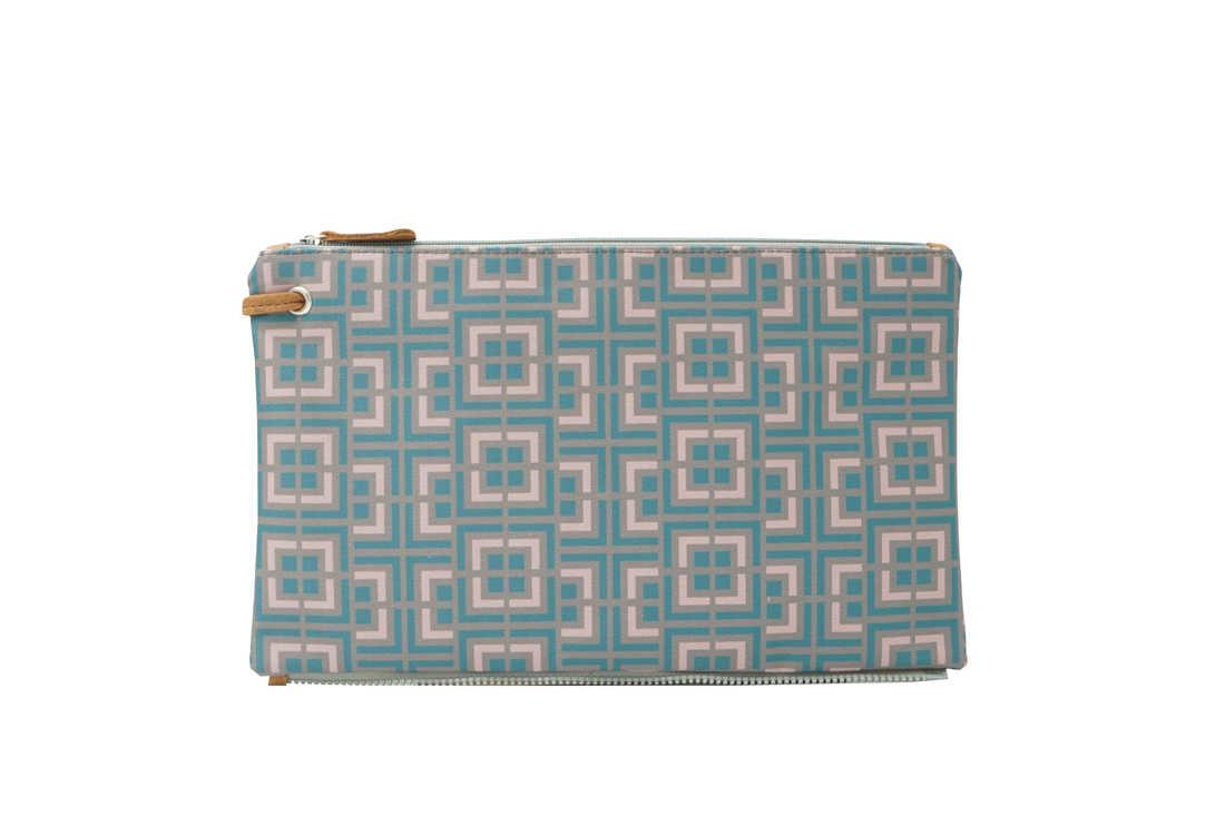 labyrinth (mocha pink) top clutch 1