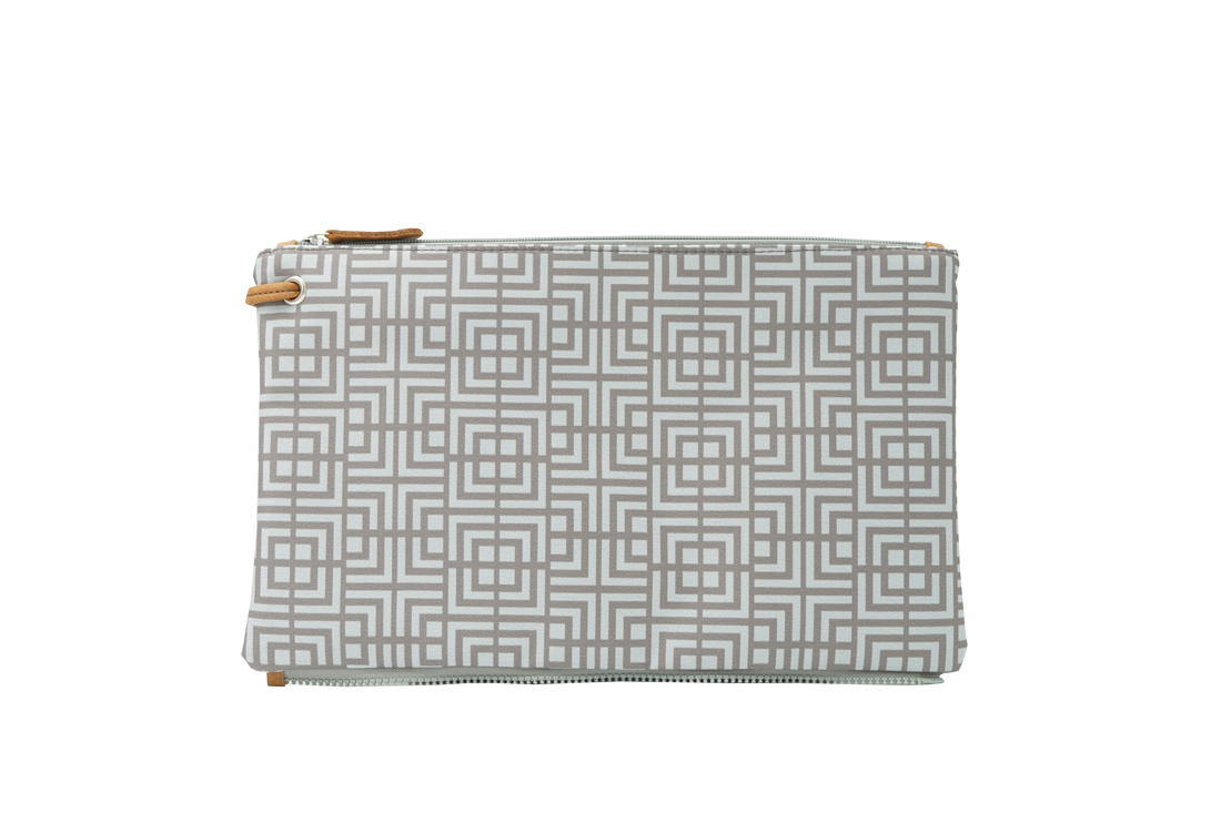 labyrinth (mocha grey) top clutch 1