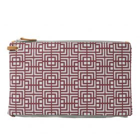 Labyrinth (dark red grey) top clutch
