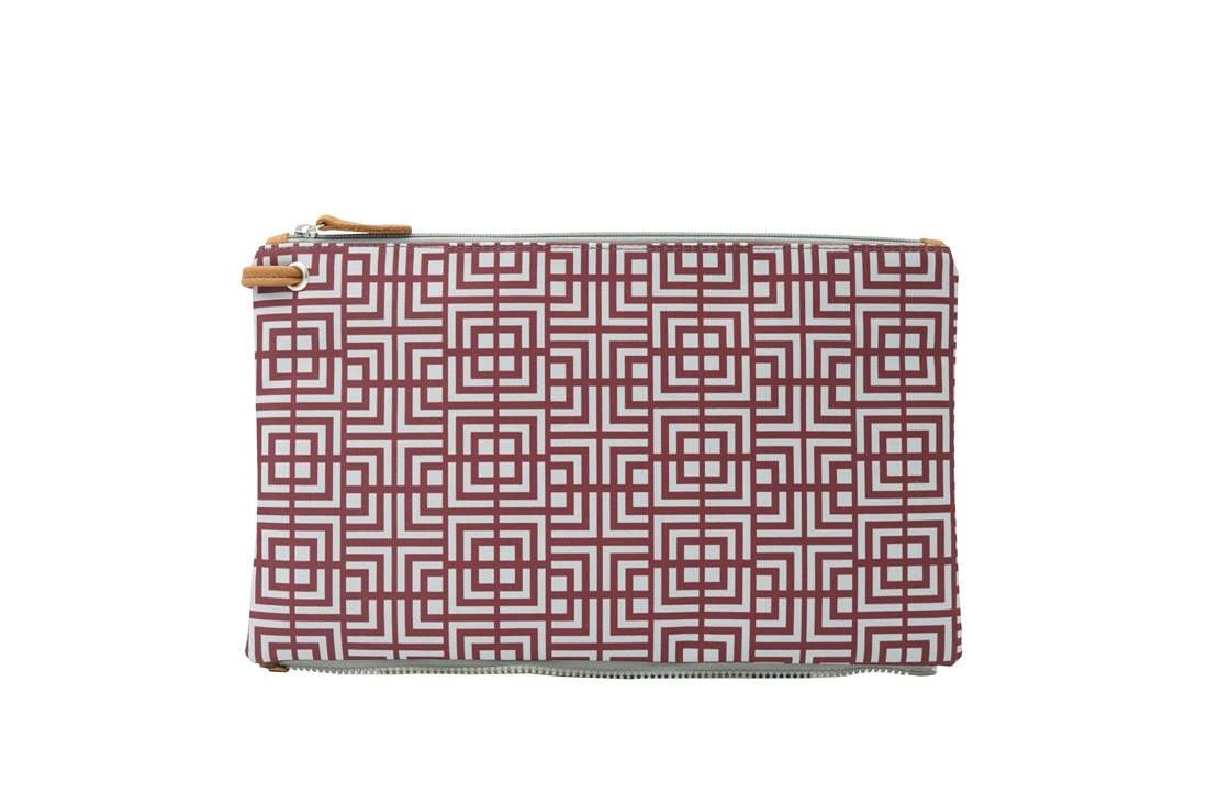labyrinth (dark red grey) top clutch 1