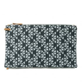 Pomegranate (black grey) top clutch