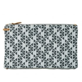 Pomegranate (grey back) top clutch