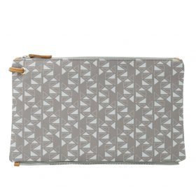 Pomegranate (mocha grey) top clutch