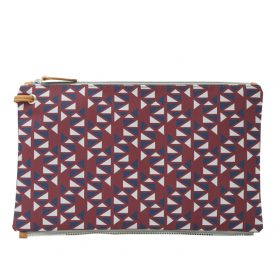 Pomegranate (dark red blue) top clutch