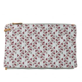 Pomegranate (grey dark red) top clutch