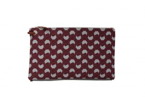 walnut dark red top clutch