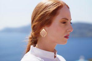 circe earrings (gold) 2