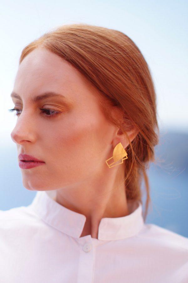 sirens earrings (gold) 4