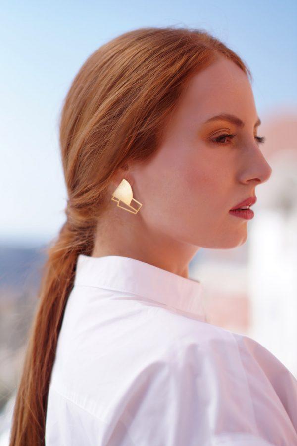 sirens earrings (gold) 1