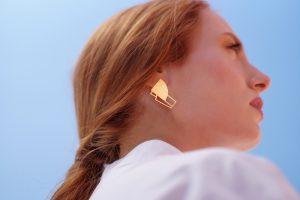 sirens earrings (gold) 2