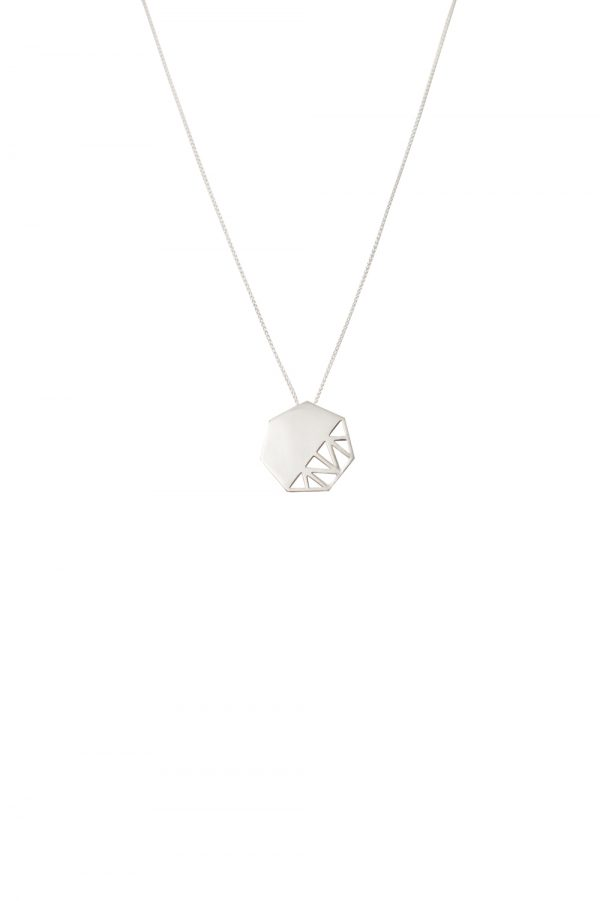 pomegranate necklace (silver)