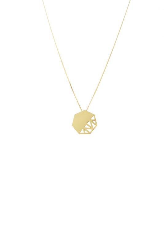 pomegranate necklace (gold)
