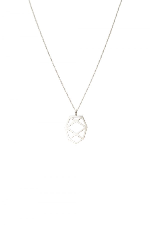 pinecone necklace (silver)