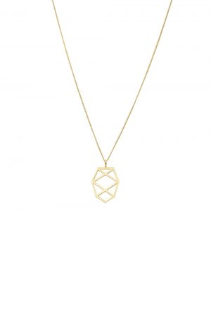 pinecone necklace (gold)