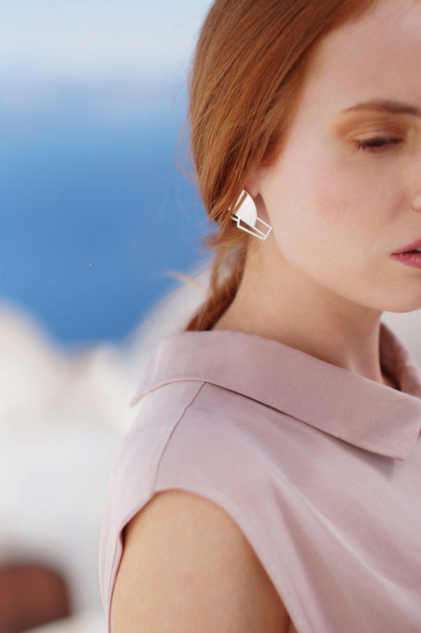 sirens earrings (silver) 3