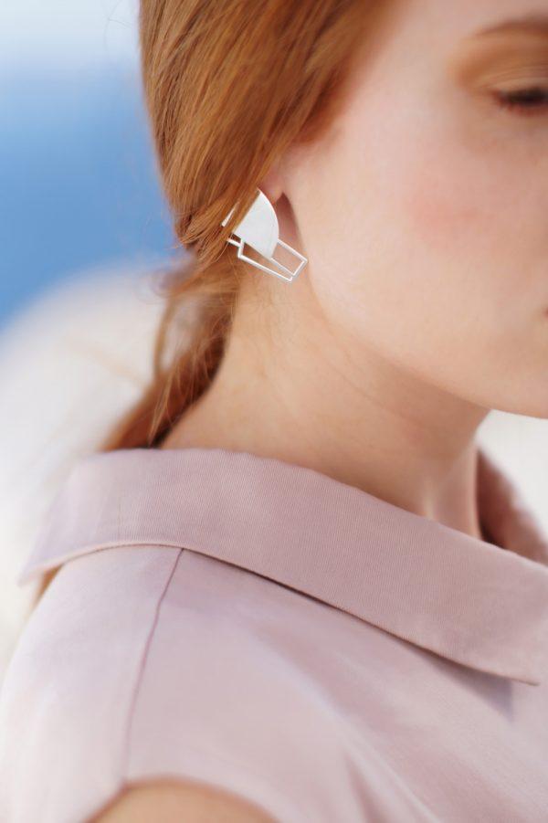 sirens earrings (silver) 1