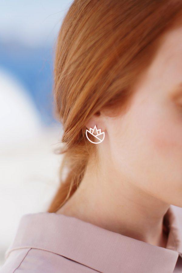 lotus earrings (silver) 1