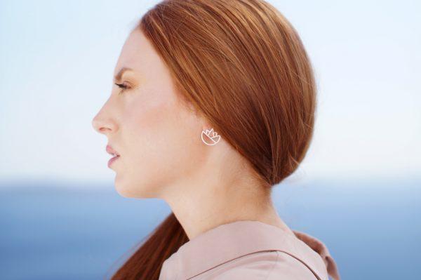 lotus earrings (silver) 2