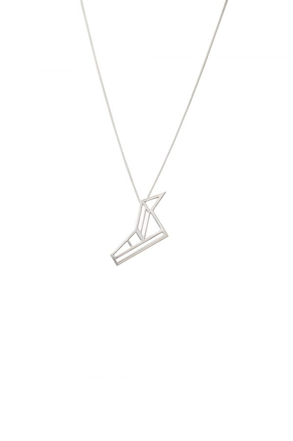 hermes necklace (silver)
