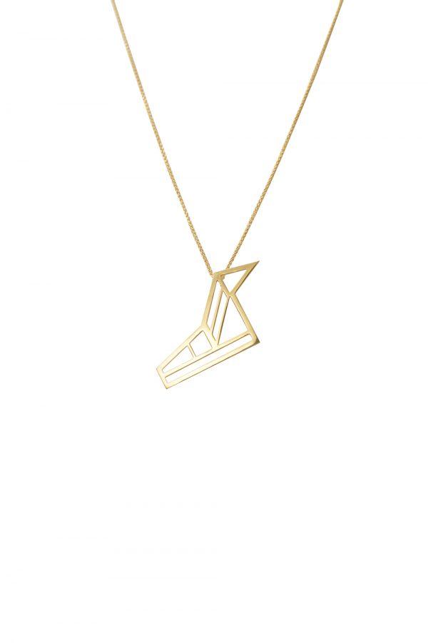 hermes necklace (gold)