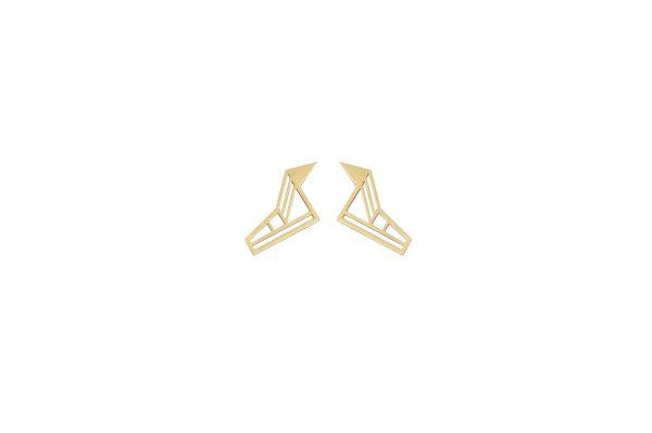 hermes earrings (gold)