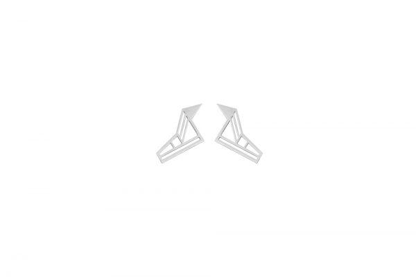 hermes earrings (silver)