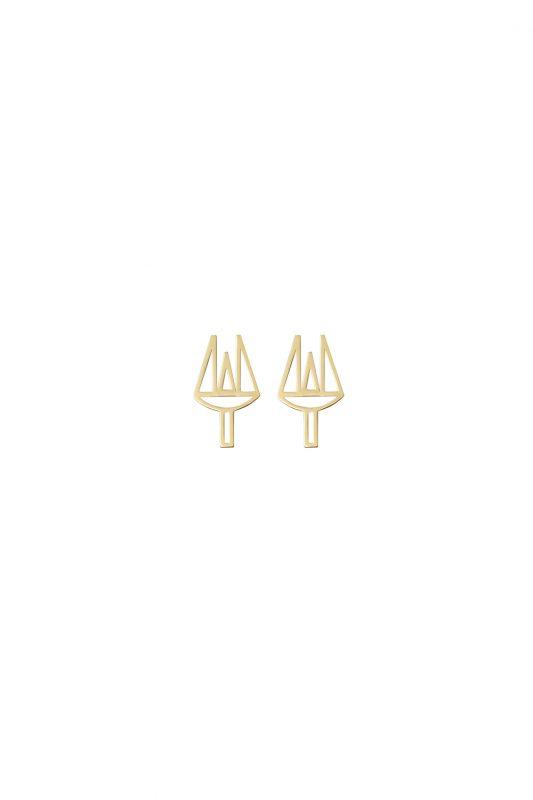 poseidon earrings (gold)