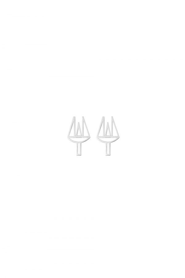 poseidon earrings (silver)