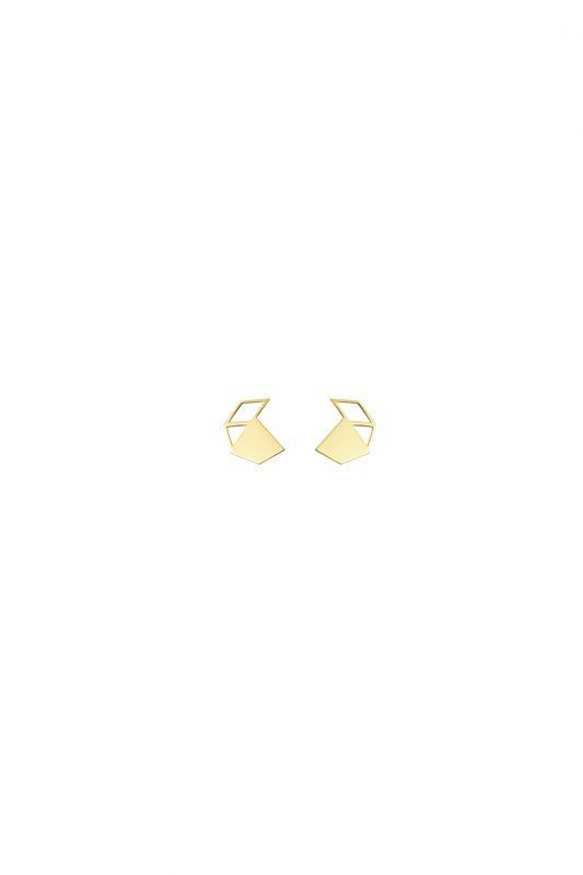 walnut earrings (gold)