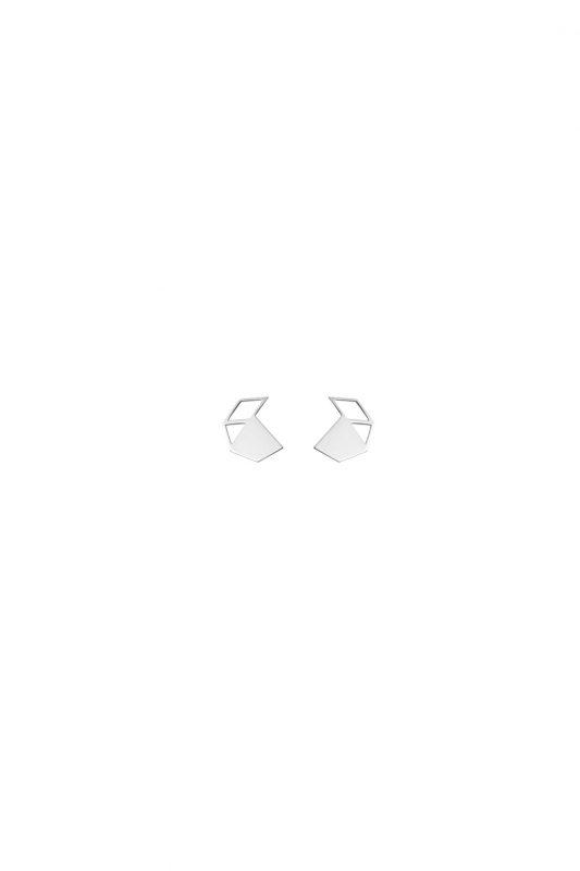 walnut earrings (silver)