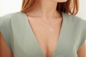 lotus necklace (silver) 3