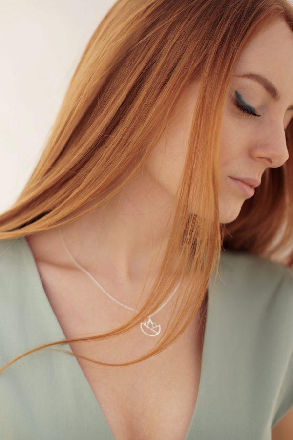 lotus necklace (silver) 1