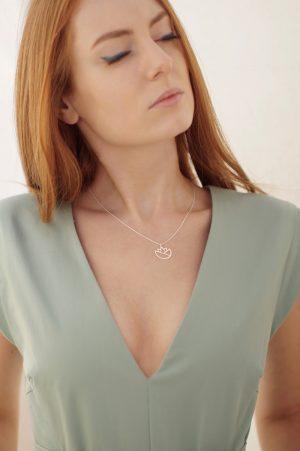 lotus necklace (silver) 2