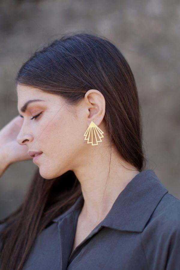circe earrings (gold) 5
