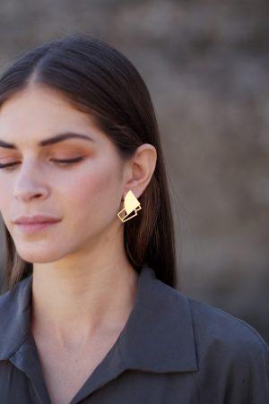 sirens earrings (gold) 5